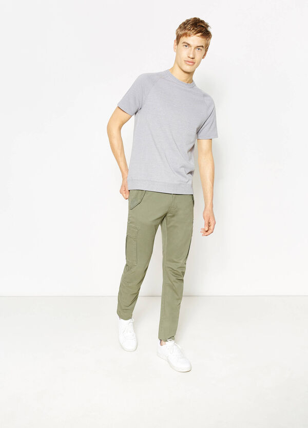 Stretch slim-fit cargo trousers | OVS
