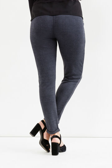Curvy stretch trousers with side zip, Slate Grey, hi-res
