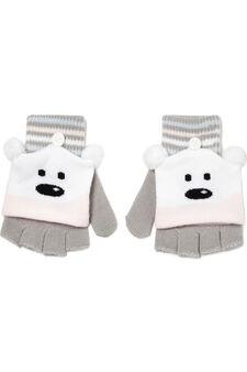 Mitten glove insert in contrasting colour., Grey, hi-res