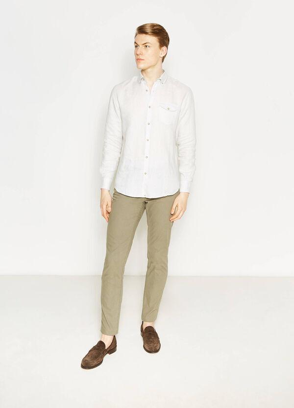Pantaloni regular fit in puro cotone | OVS