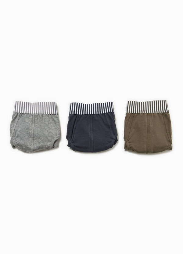 Three-pack briefs with striped waistband | OVS