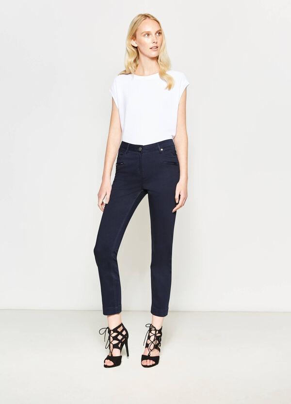 Cotton satin crop trousers | OVS