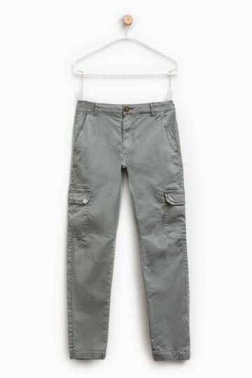 Pantalón cargo en algodón elástico
