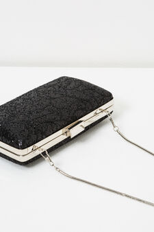 Glitter clutch, Black, hi-res