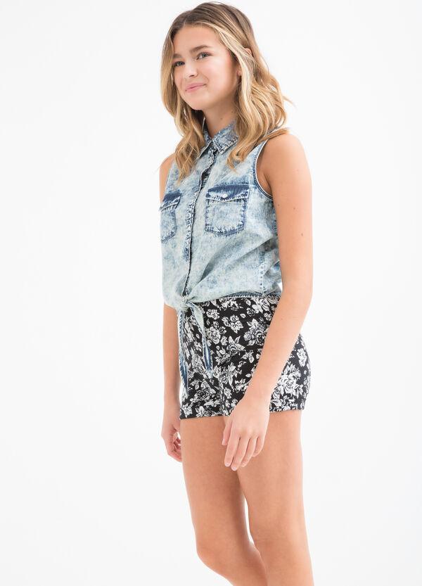 Teen worn denim waistcoat | OVS