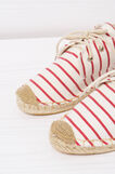 Shoes with striped pattern, Red, hi-res
