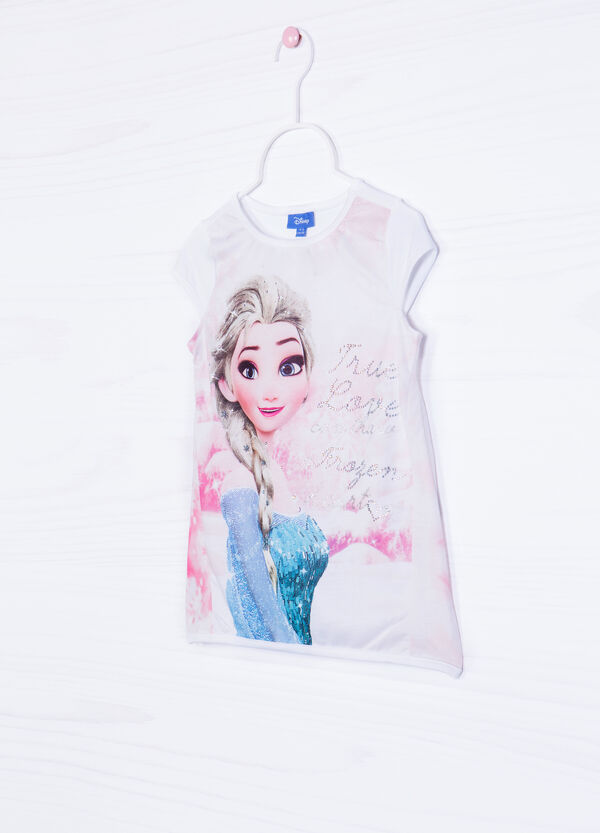 T-shirt with Frozen print and diamantés | OVS
