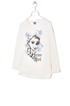 100% cotton T-shirt with Frozen print, White, hi-res