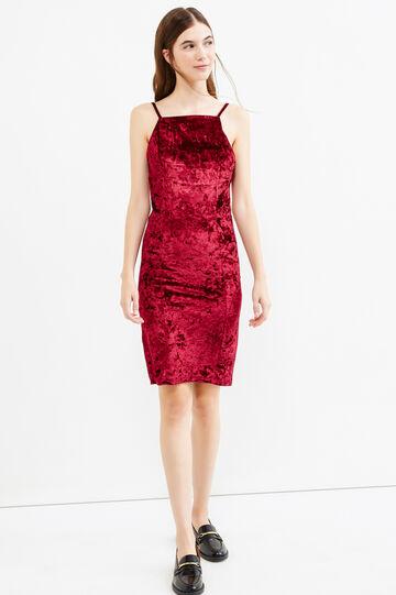 Sleeveless velvet tube dress, Purple, hi-res