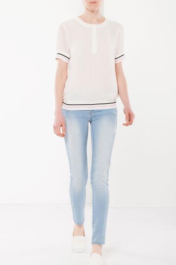 Transparent blouse, White, hi-res