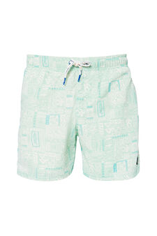 Swim boxer shorts by Maui and Sons, Light Blue, hi-res