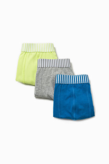Three-pack stretch boxer shorts with striped waist band
