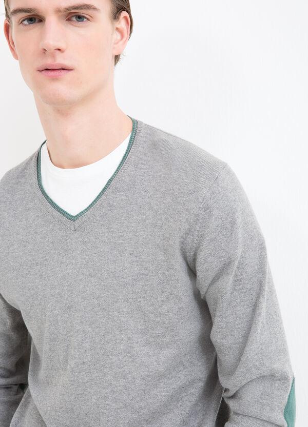 V-neck pullover in 100% cotton | OVS