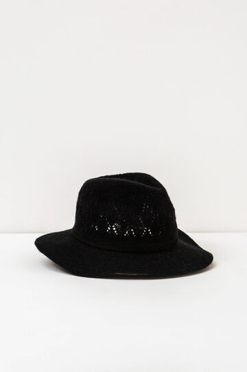Wide brim hat, Black, hi-res
