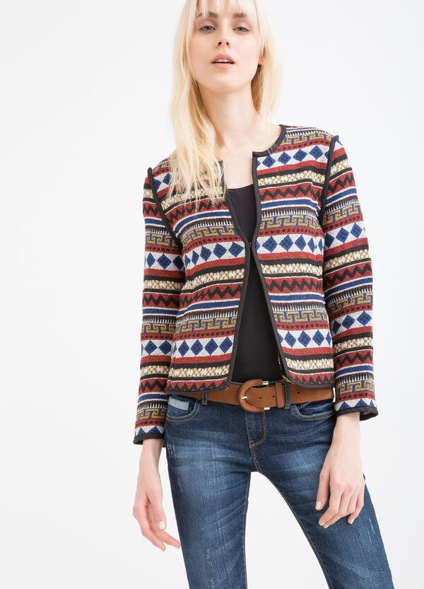 Viscose blazer with ethnic print | OVS