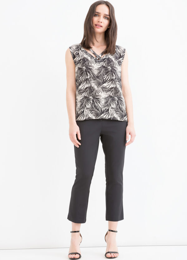 Patterned sleeveless blouse | OVS