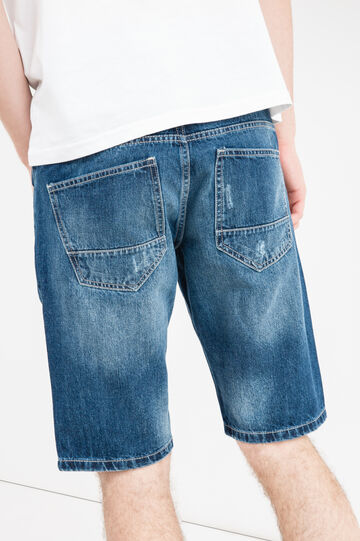 Bermuda di jeans slim fit used, Lavaggio medio, hi-res