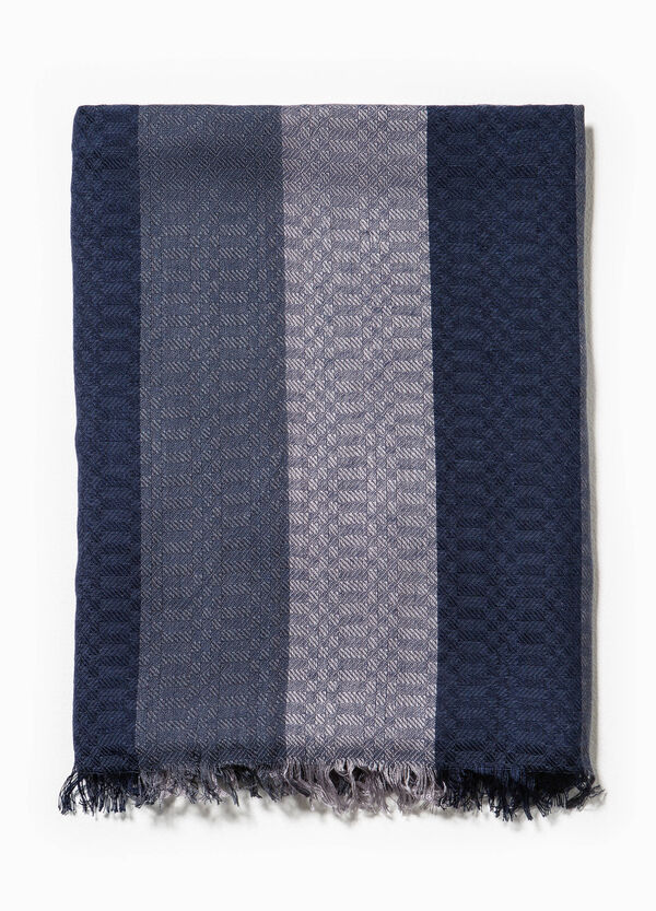 Striped cotton and viscose scarf | OVS