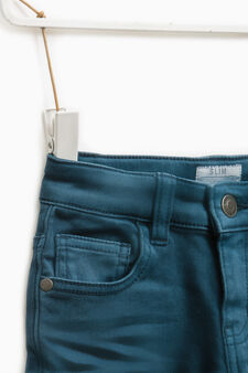 Solid colour slim-fit jeans, Deep Blue, hi-res