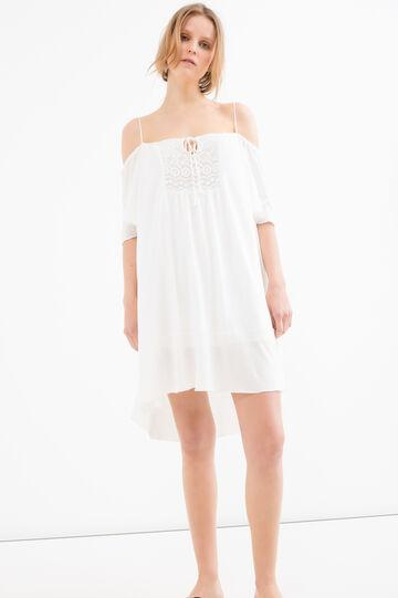 Solid colour short dress, White, hi-res