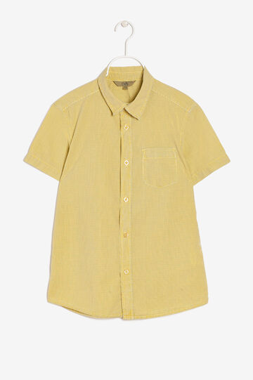 Shirt with breast pocket, Corn Yellow, hi-res
