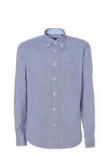 Slim fit check shirt, White/Blue, hi-res