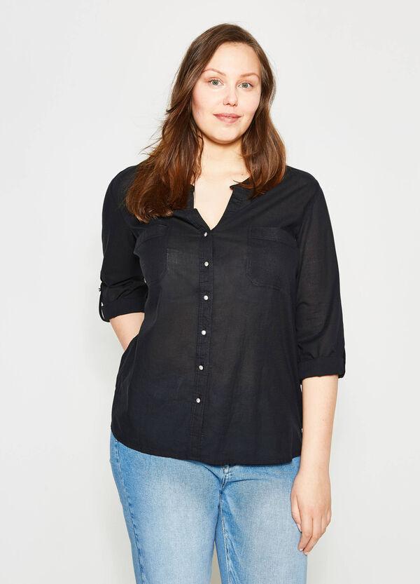 Curvy shirt with Mandarin collar | OVS