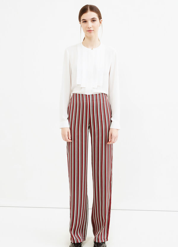 Palazzo trousers with stripes   OVS