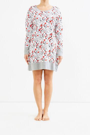 Nightshirt with Snoopy pattern, Grey Marl, hi-res