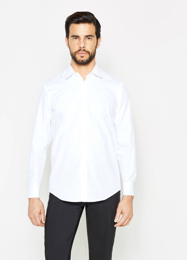 Regular-fit formal shirt with striped weave | OVS