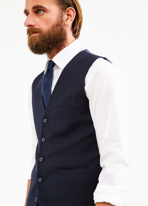 Custom-fit viscose blend waistcoat | OVS