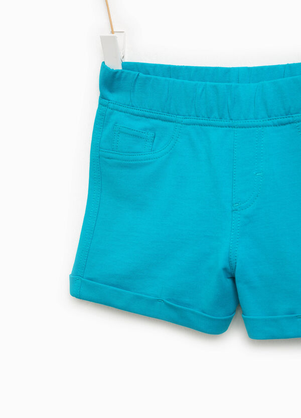 Shorts in 100% cotton with turn-ups | OVS
