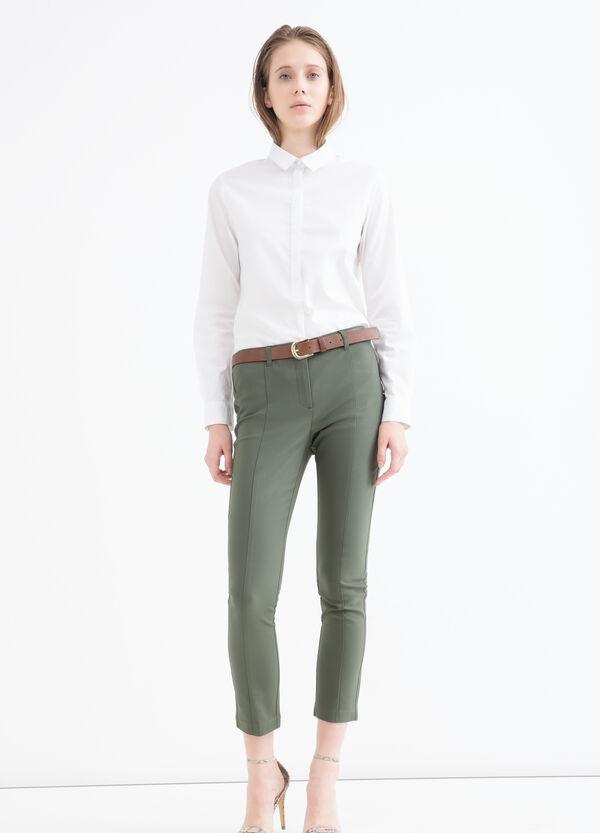 Pantaloni misto cotone stretch | OVS