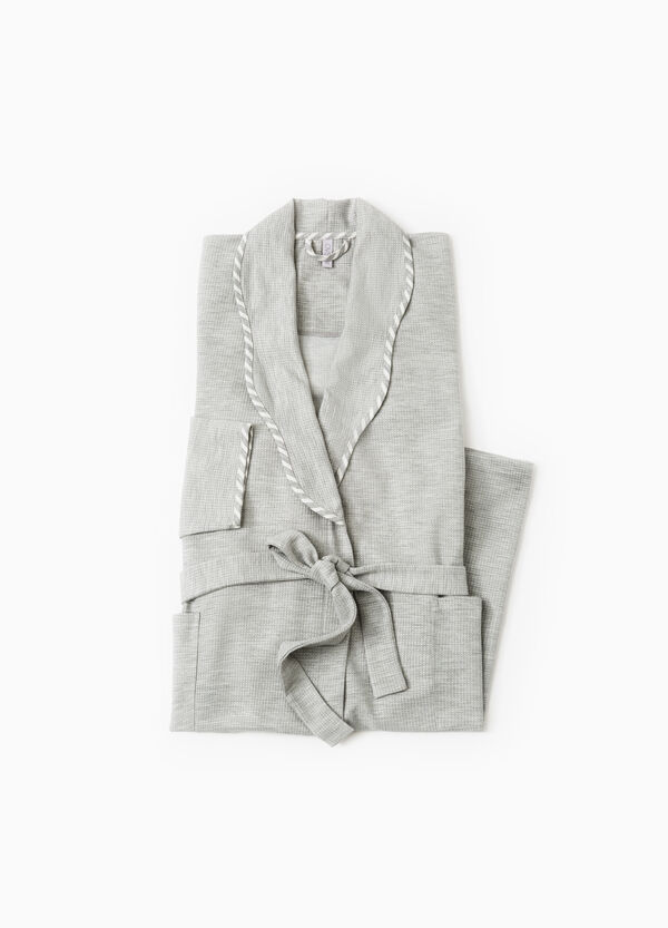 Cotton robe with double pocket | OVS