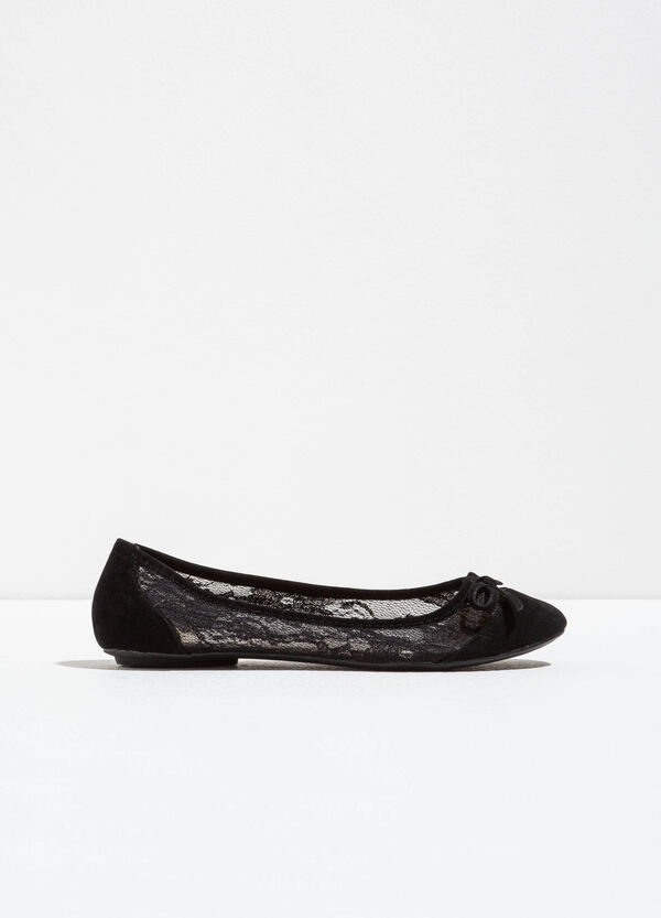 Ballerina flats with lace uppers | OVS