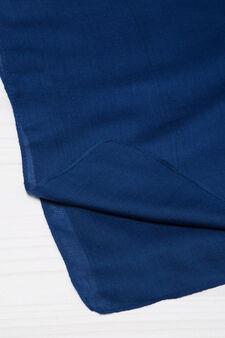 Solid colour viscose scarf, Blue, hi-res