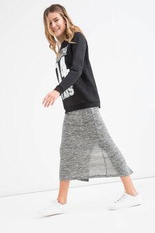 Sweatshirt with Teen printed lettering, Black, hi-res