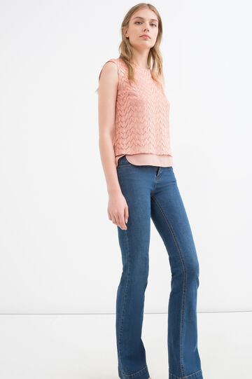Plain sleeveless blouse., Pink, hi-res