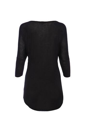 Smart Basic T-shirt with sequins, Black, hi-res