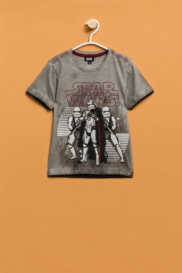 T-shirt stampa Star Wars con inserti, Grigio cemento, hi-res