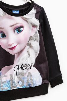 Frozen maxi print tracksuit, Black/White, hi-res