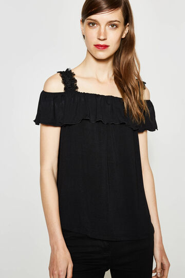 T-shirt with fringed straps