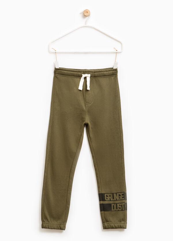 Printed cotton gym pants   OVS