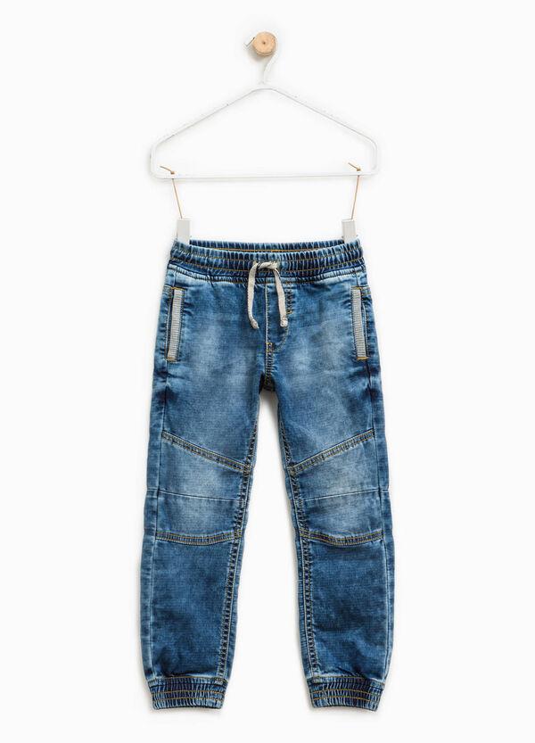 Jeans stretch delavati con coulisse | OVS