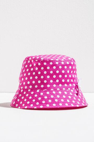 Polka dot fishing hat, White/Pink, hi-res