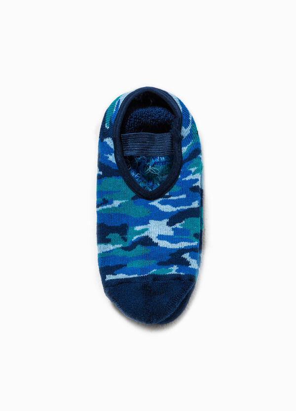 Slipper socks with camouflage pattern | OVS
