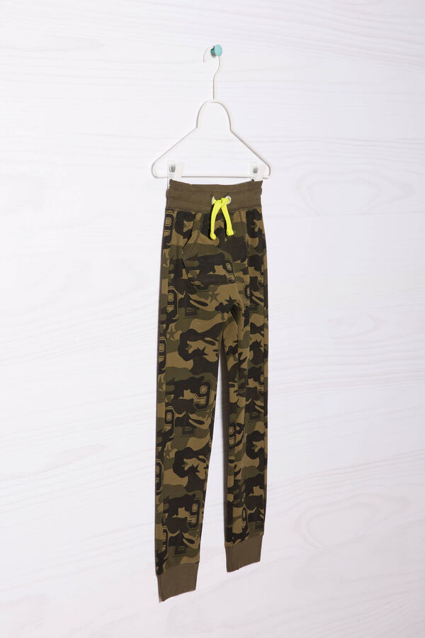 Cotton joggers with camouflage pattern | OVS
