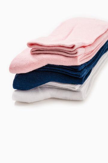 Set tre paia calze lunghe stretch, Rosa, hi-res