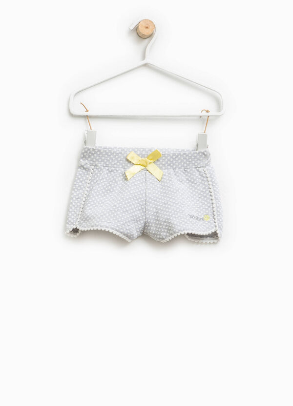 Polka dot shorts in stretch cotton | OVS