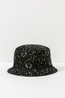 Cappello alla pescatora effetto macchie, Nero, hi-res